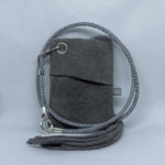 djac Grey Suede Leather Lanyard