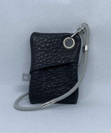 djac Black Hide Leather Wrist Lanyard