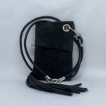 djac Black Suede Leather Lanyard