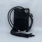 djac Black Suede Leather Lanyard